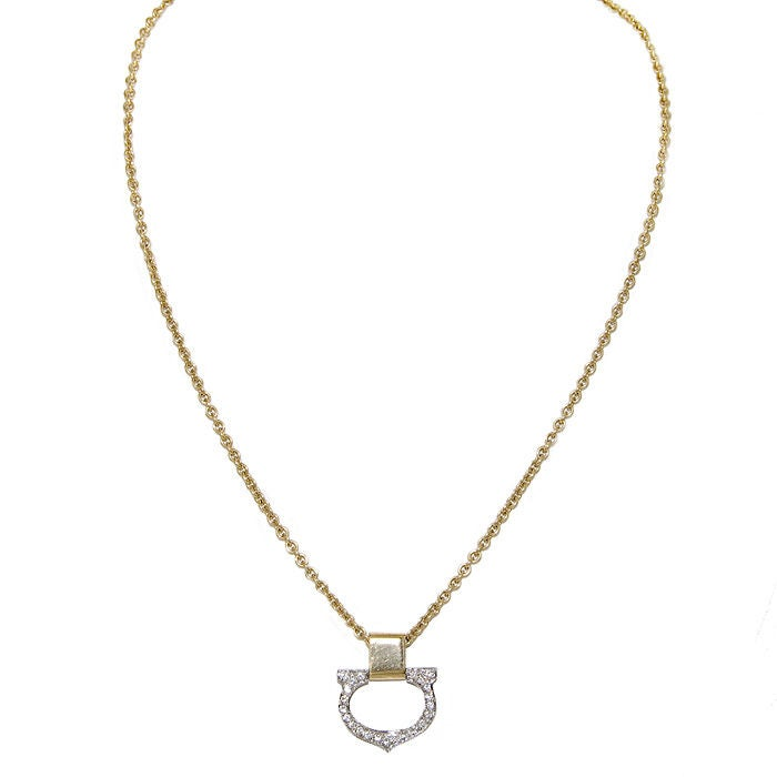 "CARTIER Gold and Diamond  ""C"" Pendant 3"