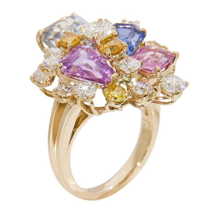 Women's OSCAR HEYMAN FOR J.E. CALDWELL Sapphire & Diamond Ring