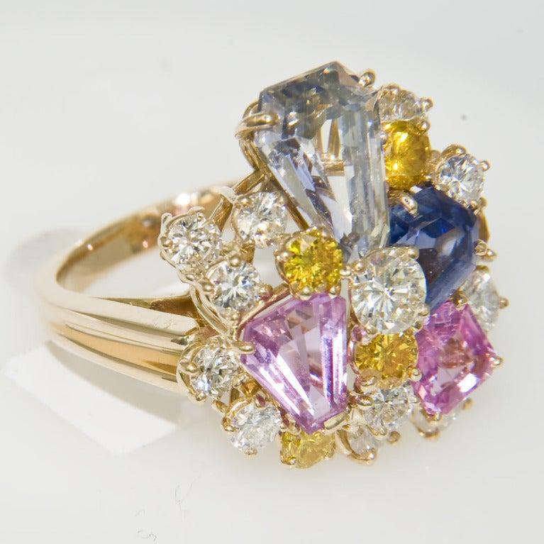 OSCAR HEYMAN FOR J.E. CALDWELL Sapphire & Diamond Ring 1