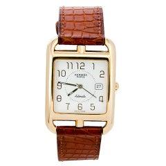 HERMES Gold Cape Cod  Wrist watch