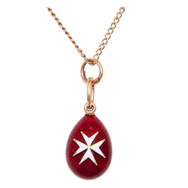 russian pre revolution gold and enamel egg pendant at 1stdibs