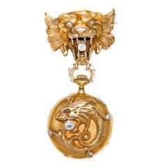 Art Nouveau Lapel Watch for C.D. Peacock