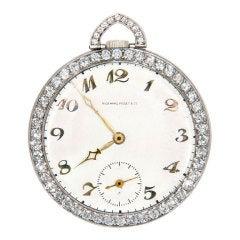 AUDEMARS PIGUET Art Deco Diamond Platinum Pocket Watch