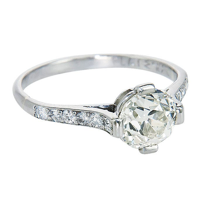 antique cushion cut engagement ring at 1stdibs