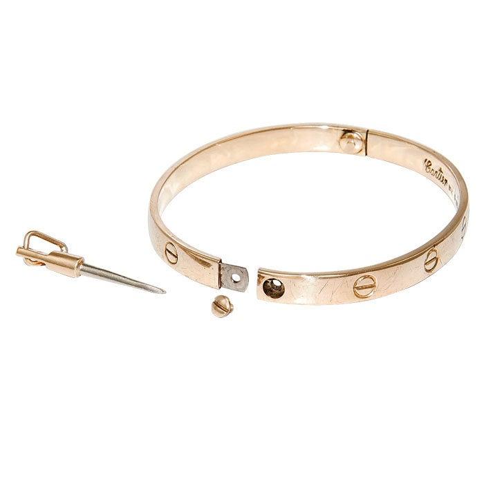 CARTIER ALDO CIPULLO Love Bracelet at 1stdibs
