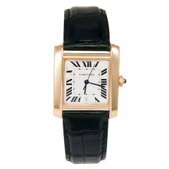 CARTIER Yellow Gold Tank Francaise Mid-Size Watch