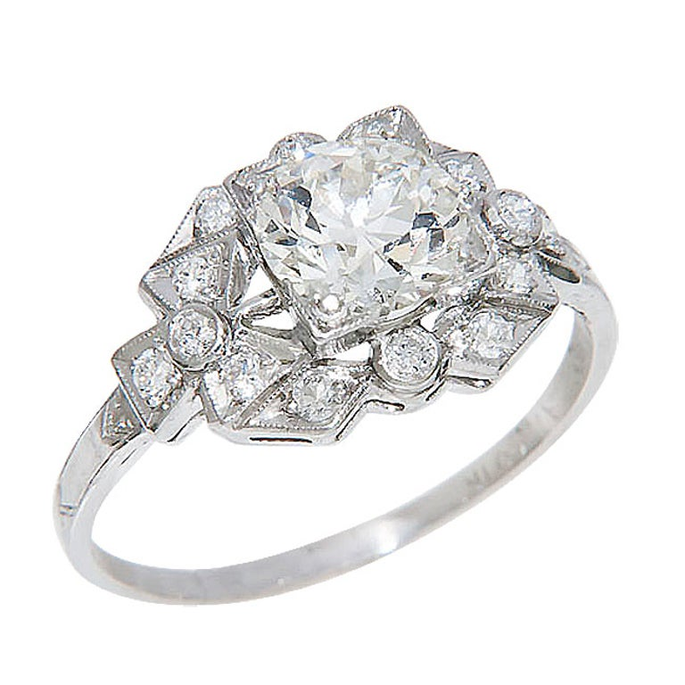 Antique Diamond Engagement Ring For Sale at 1stdibs