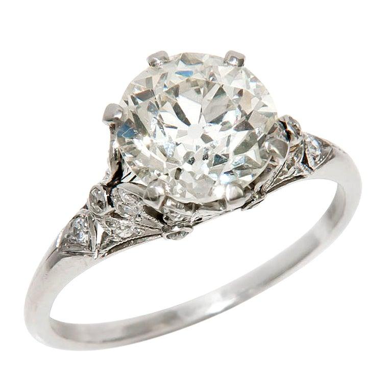 antique 2 94 carat engagement ring at 1stdibs