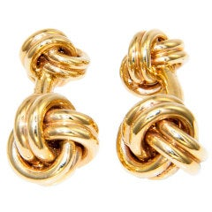 TIFFANY & CO. Yellow Gold Knot Cufflinks