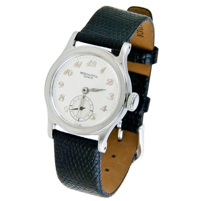 PATEK PHILIPPE Stainless Steel Calatrava Wristwatch with Breguet Numerals 2