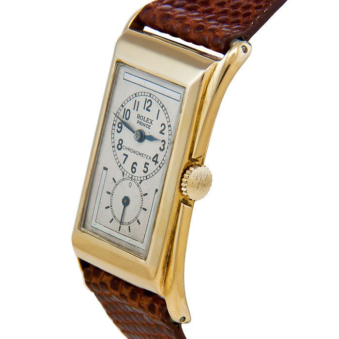 rolex yellow gold prince doctor 39 s watch circa 1930s at 1stdibs. Black Bedroom Furniture Sets. Home Design Ideas
