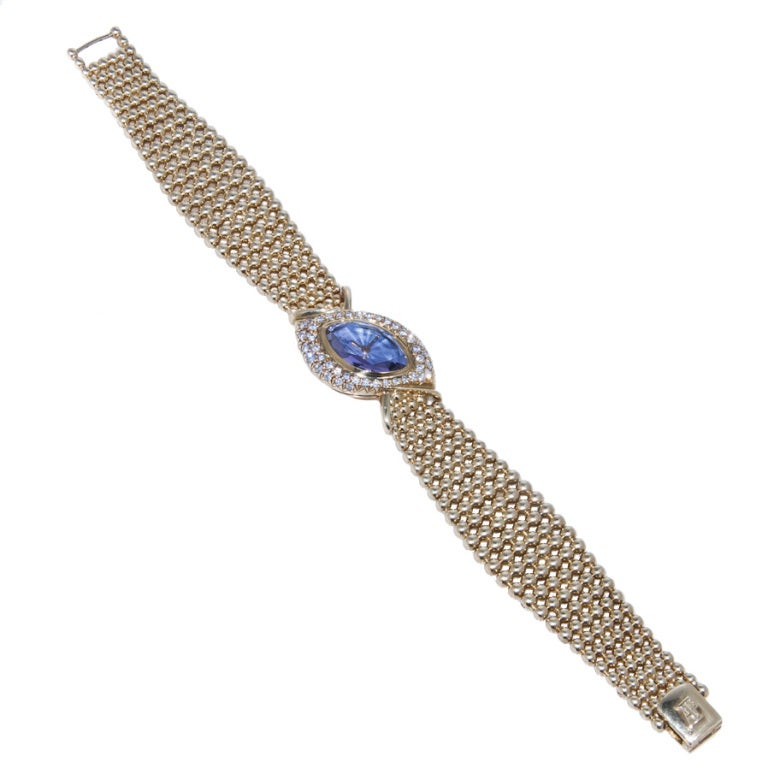AUDEMARS PIGUET Yellow Gold, Diamond and Amethyst Bracelet Watch image 4