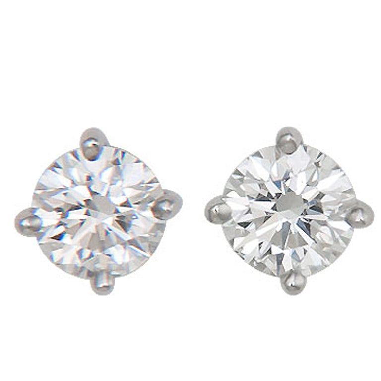 Tiffany Co Diamond Stud Earrings For