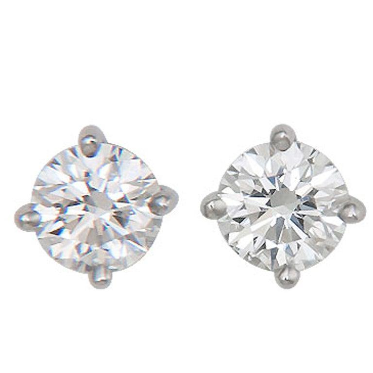 Tiffany Co Diamond Stud Earrings
