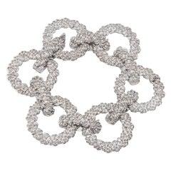 HERMES 1970's Large Sterling Silver Loop Bracelet
