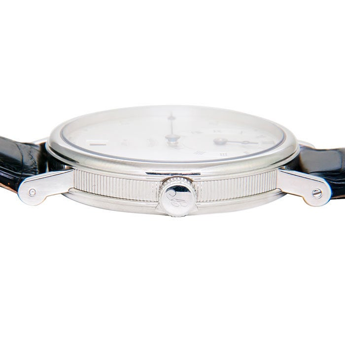 Women's or Men's BREGUET Platinum Classique Regulator Wristwatch Ref 5187 For Sale