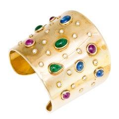 CHANTECLER of Capri Gem Set Cuff Bracelet