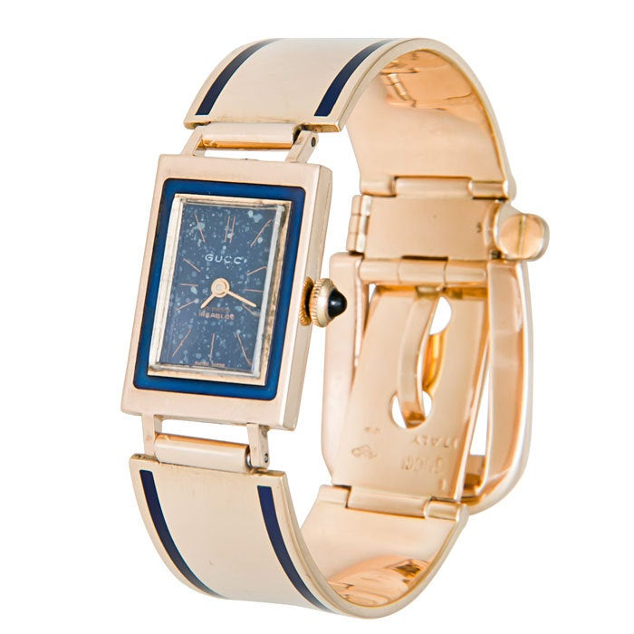Gucci Yellow Gold and Enamel Wristwatch 2