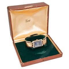Gucci Yellow Gold and Enamel Wristwatch