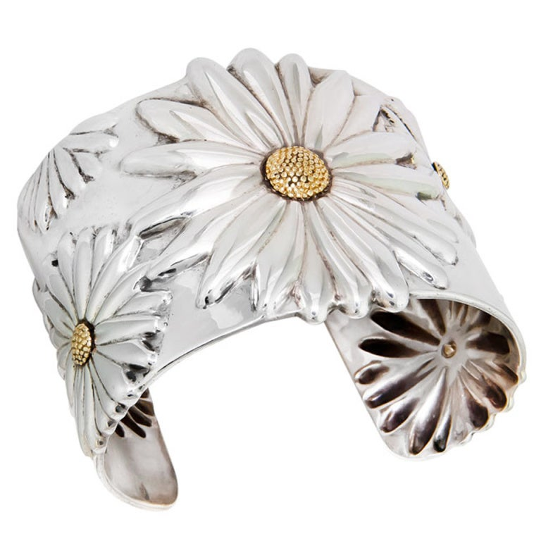Tiffany And Co Large Daisy Cuff Bracelet At 1stdibs