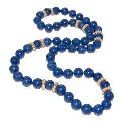 Large & Elegant Lapis Necklace