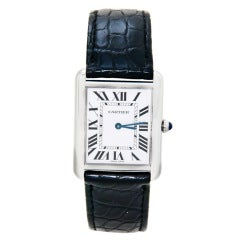 Cartier Stainless Steel Tank Solo Wristwatch