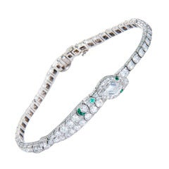 GATTLE & CO Art Deco Snake Bracelet