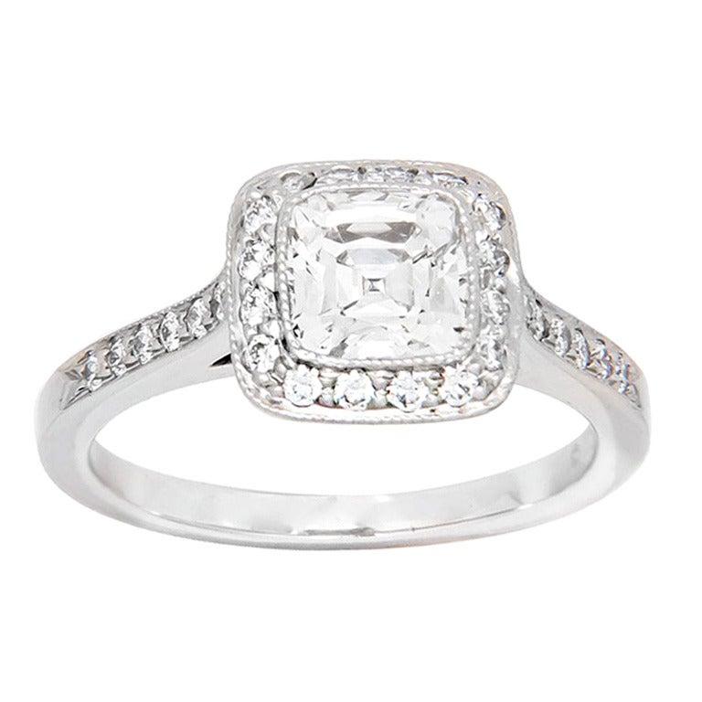 Tiffany And Company 1 15 Cushion Diamond Ring At 1stdibs