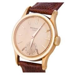 Patek Philippe Rose Gold Calatrava Wristwatch circa 1940s