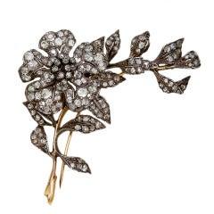 Victorian Diamond En Tremblant Flower Brooch