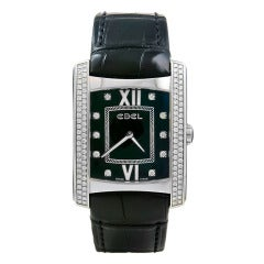 Ebel Stainless Steel and Diamond Brasilia Wristwatch