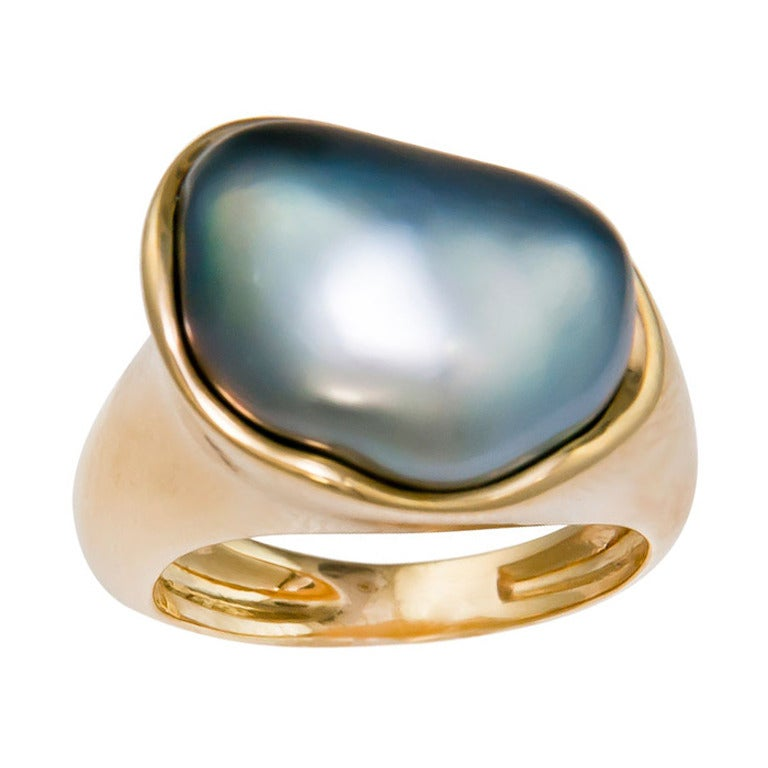 d2334bbb6 Elsa Peretti for Tiffany and Co. Tahitian Pearl Ring at 1stdibs