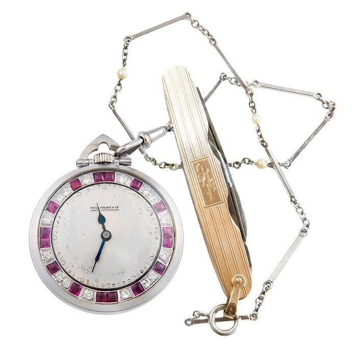 Patek Philippe Tiffany & Co. Pocket Watch with Important Baseball History 3