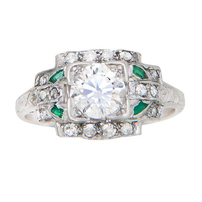 1930s Diamond Platinum Engagement Ring 2