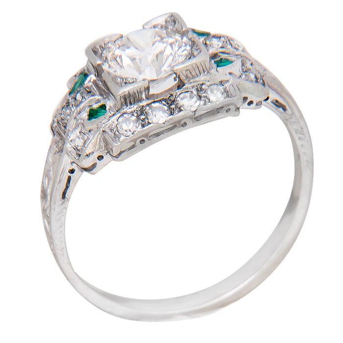 1930s Diamond Platinum Engagement Ring 3