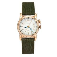 Longines Yellow Gold Weems Pilot's Wristwatch circa 1930s