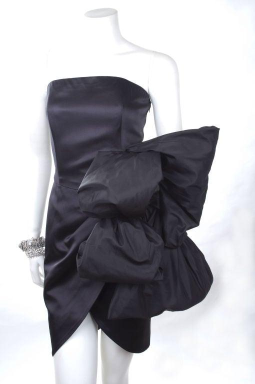 80's Yves Saint Laurent Bustier Cocktail Dress 2