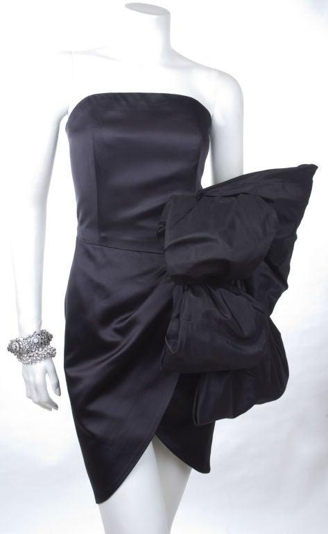 80's Yves Saint Laurent Bustier Cocktail Dress 3