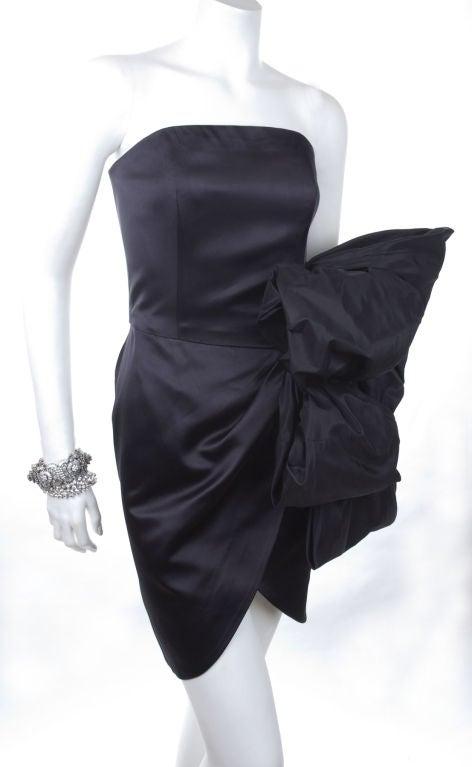 80's Yves Saint Laurent Bustier Cocktail Dress 4