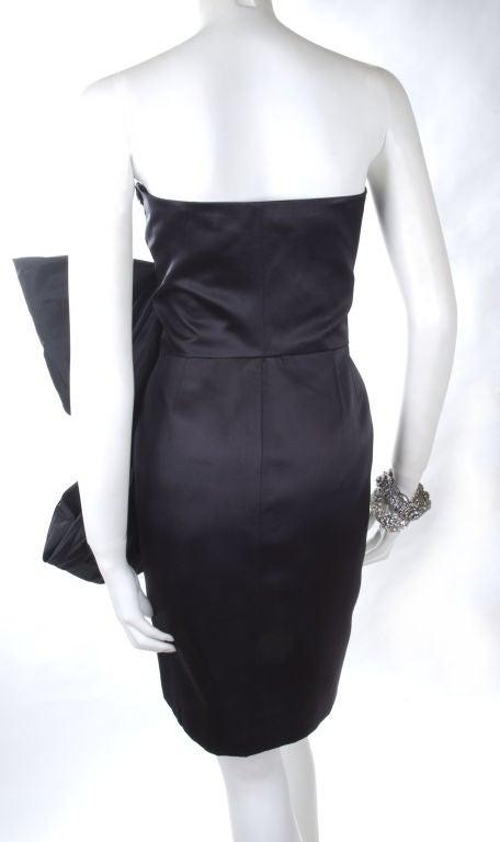 80's Yves Saint Laurent Bustier Cocktail Dress 5