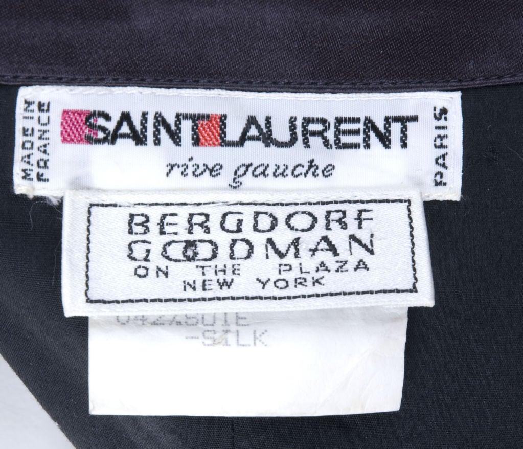 80's Yves Saint Laurent Bustier Cocktail Dress 9