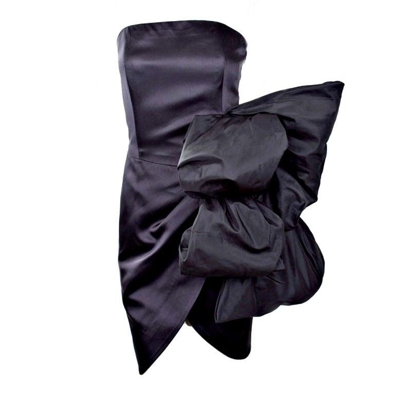 80's Yves Saint Laurent Bustier Cocktail Dress 1