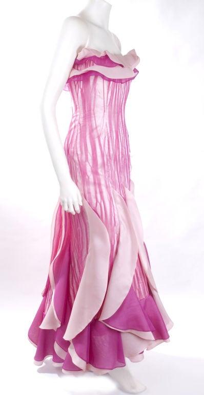Women's 80's Hanae Mori Bustier Evening Gown For Sale