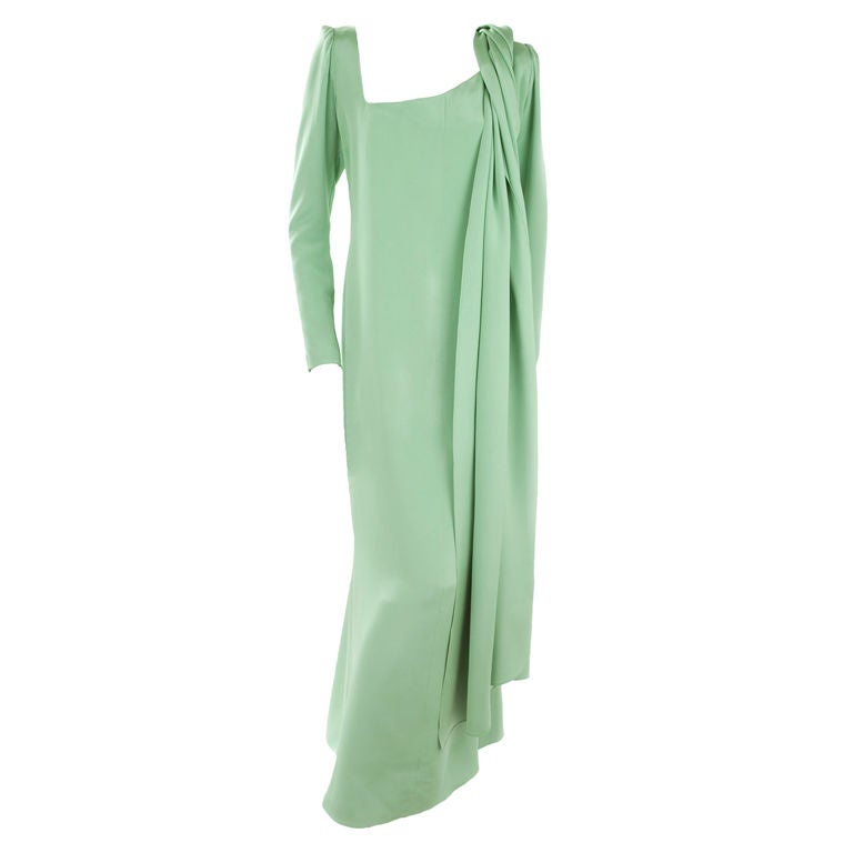 70 39 s haute couture yves saint laurent gown at 1stdibs for Haute couture cost