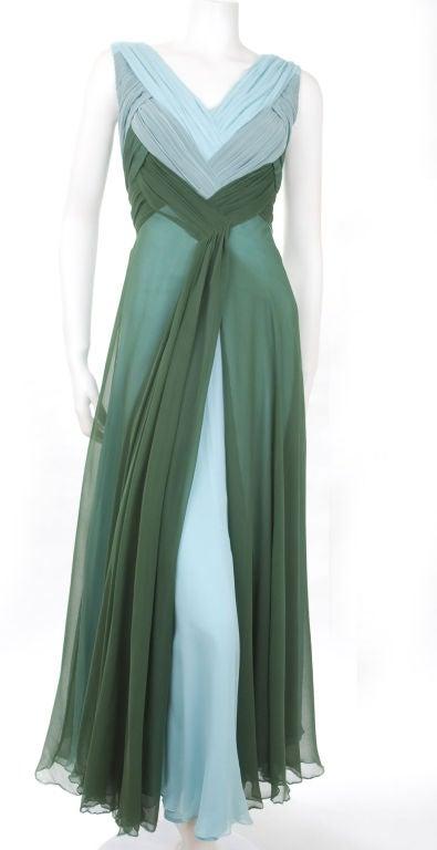 Valentino Boutique Silk Chiffon Gown 2