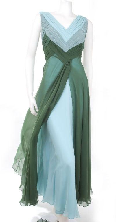 Valentino Boutique Silk Chiffon Gown 3