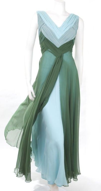 Valentino Boutique Silk Chiffon Gown 10