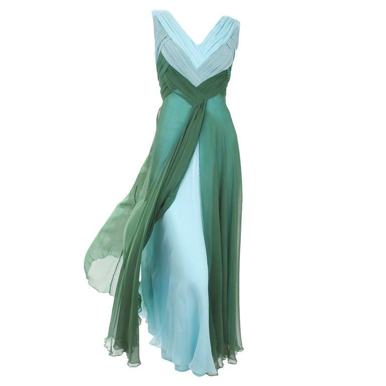 Valentino Boutique Silk Chiffon Gown 1