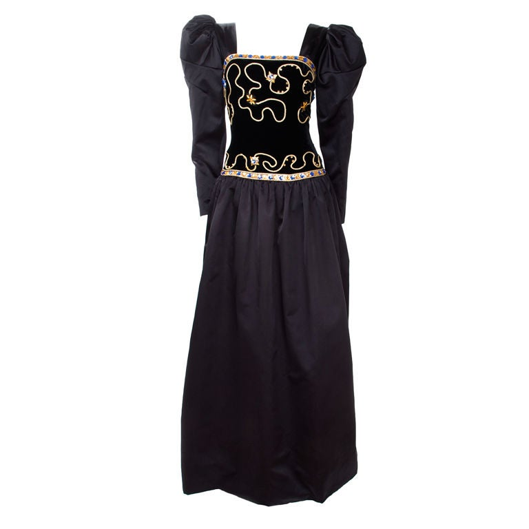 80's Givenchy Nouvelle Boutique Gown 1
