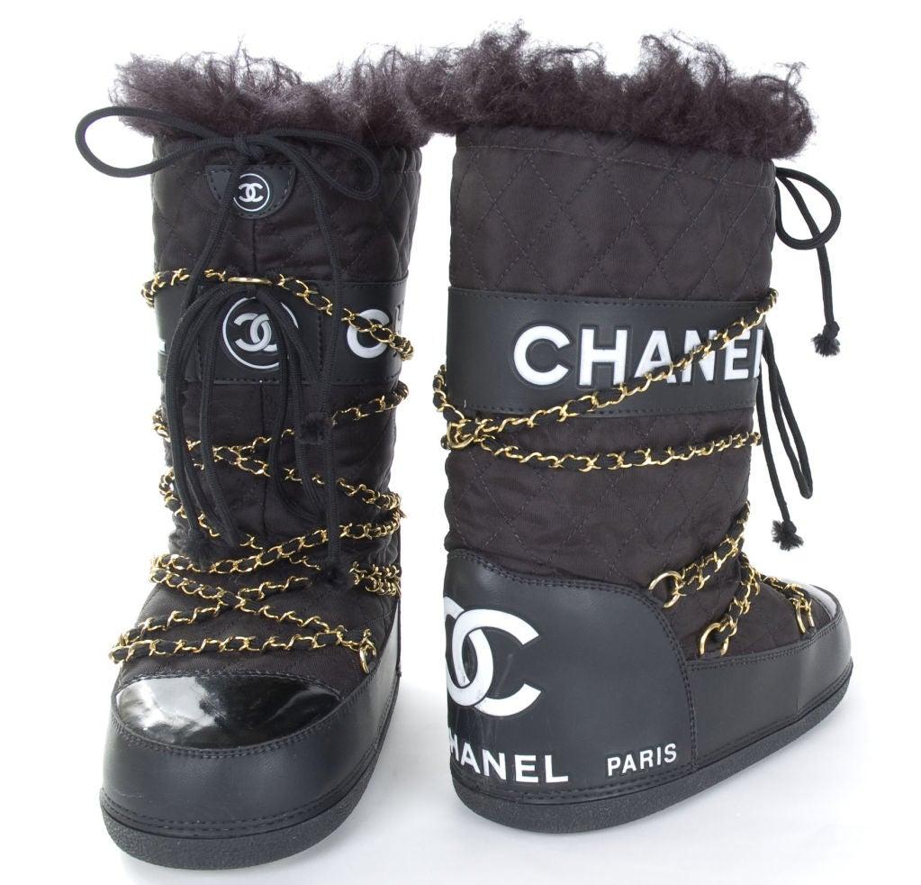 CHANEL APRES SKI MOON BOOTS 7
